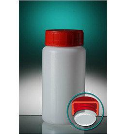 Jar PE with screw cap and inlay