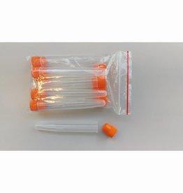 Reageerbuis plastic met plastic stop