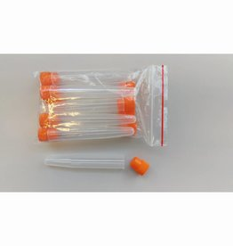 Test tubes with plastic rubber stopper