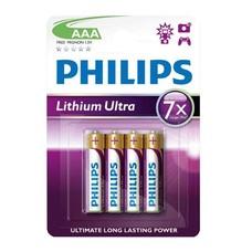 AAA Lithium batterijen Philips blister 4 stuks