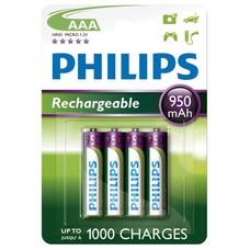 AAA oplaadbare batterijen Philips 950 mAh