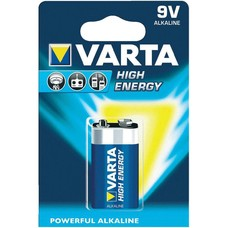 9V blok batterij Varta High Energy blister