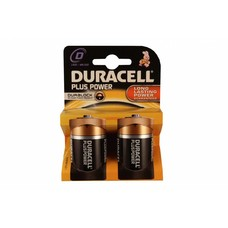 D cell batterijen Duracell plus blister 2 stuks