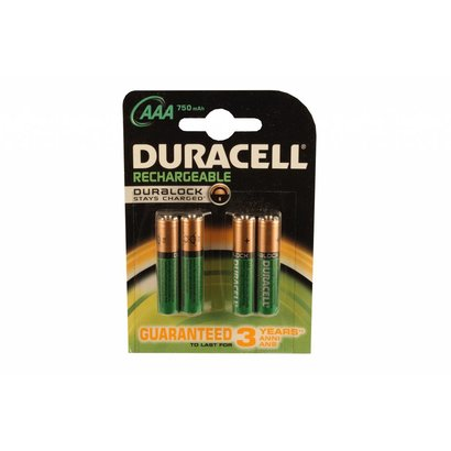 AAA oplaadbare batterijen Duracell Duralock stay charged 750 mAh NiMH 1,2V DECT
