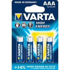 AAA batterijen Varta High Energy blister 4 stuks