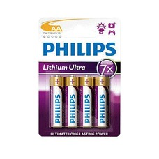 AA lithium batterijen Philips ultra blister 4 stuks