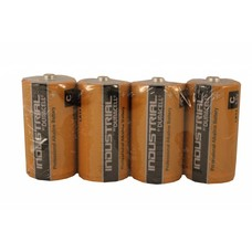 C cell batterijen Duracell industrial folie 4 stuks