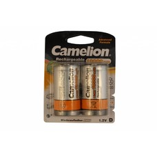 D cell oplaadbare batterijen Camelion 10000 mAh blister 2 stuks