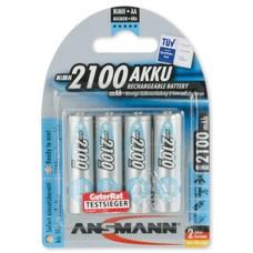 AA oplaadbare batterijen Ansmann MaxE NiMH 2100 mAh