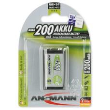9V blok oplaadbare batterij Ansmann MaxE 200 mAh
