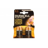 C cell batterijen Duracell plus blister 2 stuks