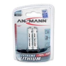 AAA extreme lithium batterijen Ansmann blister 2 stuks