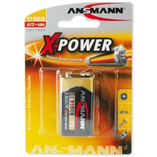 9V blok batterij Ansmann X-power blister