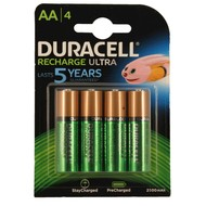 AA oplaadbare batterijen Duracell Duralock stay charged 2500 mAh