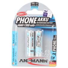 AA oplaadbare batterijen Ansmann 1300 mAh DECT NiMH 2 stuks