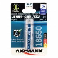 Ansmann 18650 Li-ion batterij 2600 mAh protected