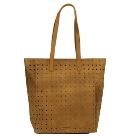 Burkely Perforated Shopper Zandkleur