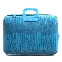 Bombata Croco 17 inch Hardcase Laptoptas Turquoise