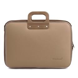 Bombata Classic Business 15 inch Laptoptas Taupe