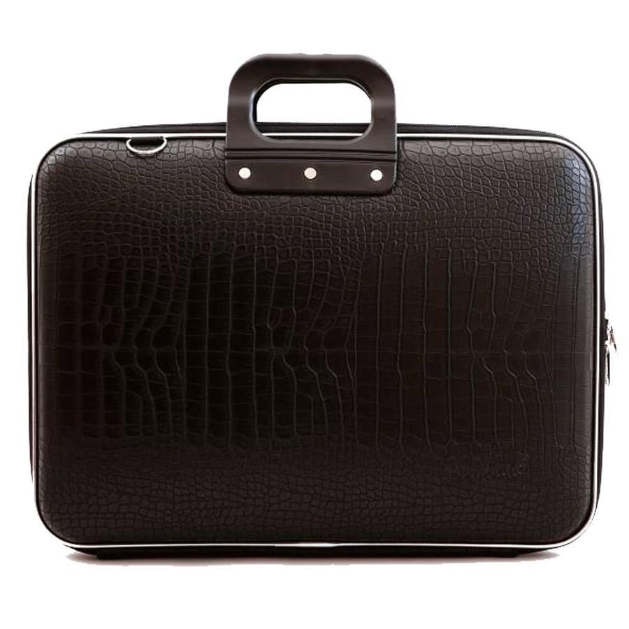 Bombata Croco Hardcase Laptoptas 17 inch Zwart