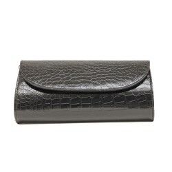 Kysma Party Envelope Croco Clutch Zwart