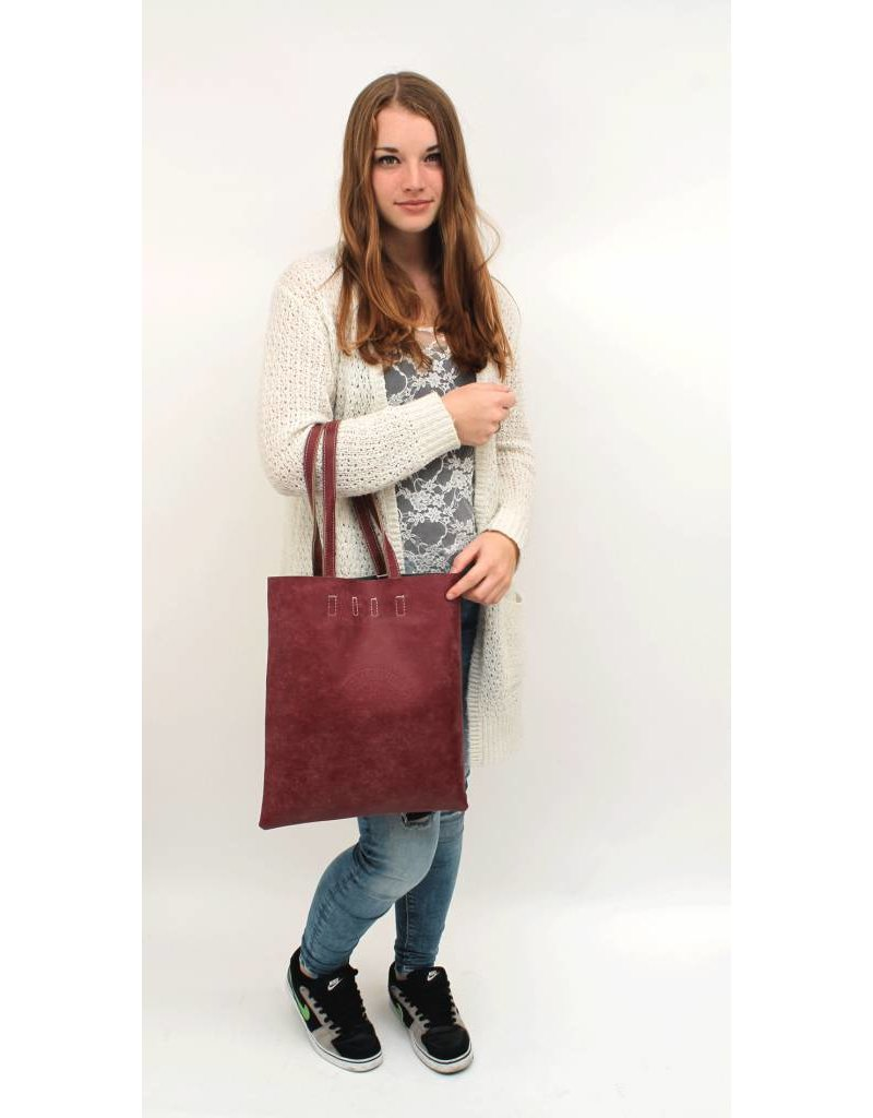 Kysma Street Fashion Shopper Bordeaux Rood