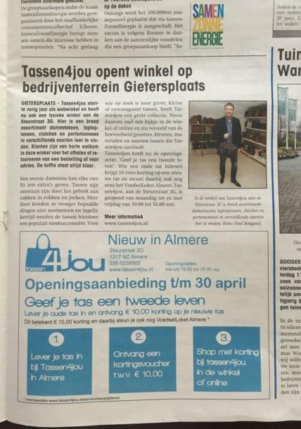 Tassen4jou in Almere deze Week