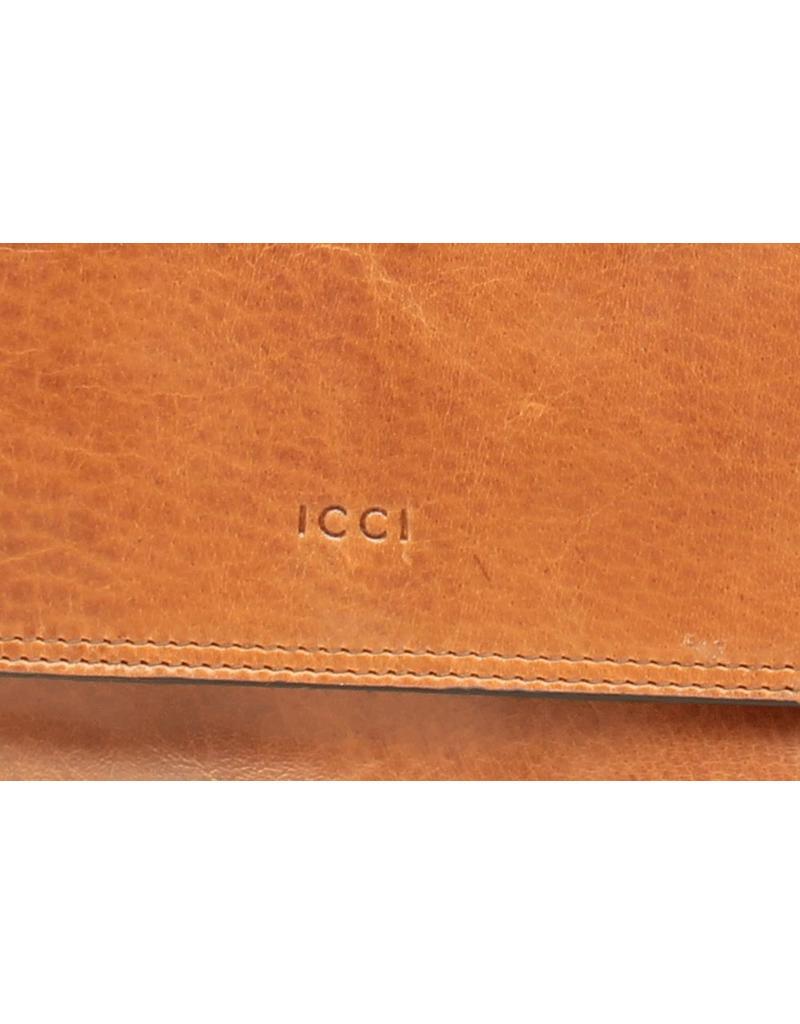 ICCI Schoudertas 2-vaks kleptas Cognac