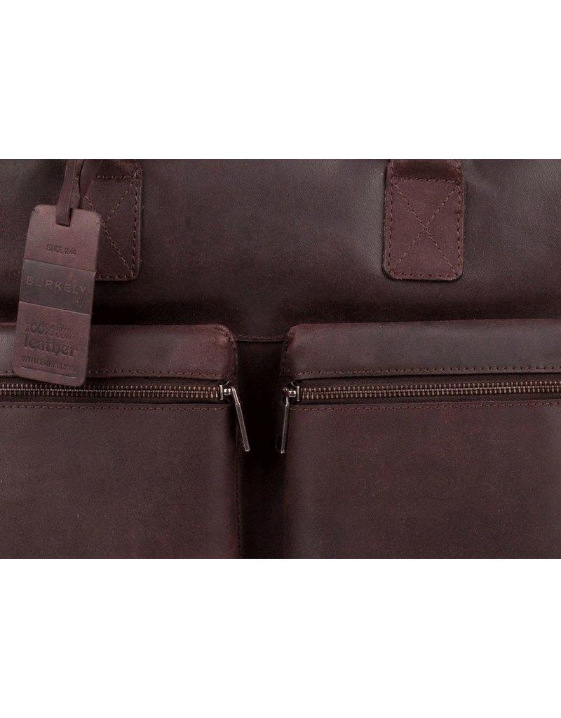 Burkely Vintage Laptoptas Donker Bruin met 2 ritsvakken