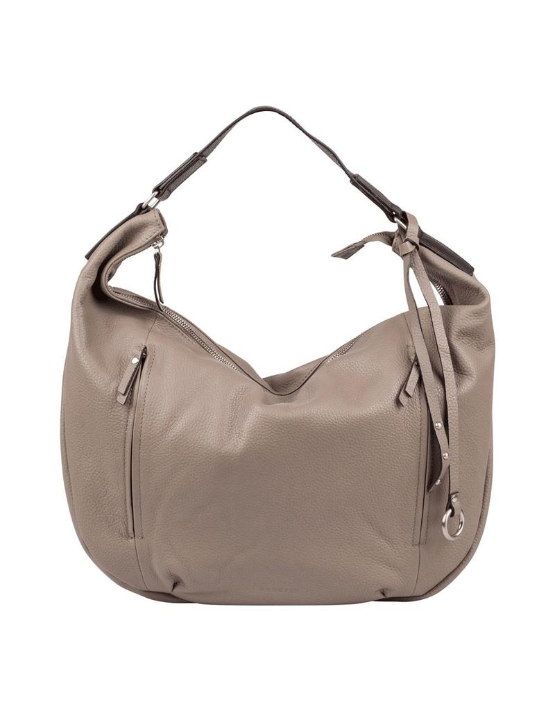 Burkely Mary Hobo Front Double Zipper Grey