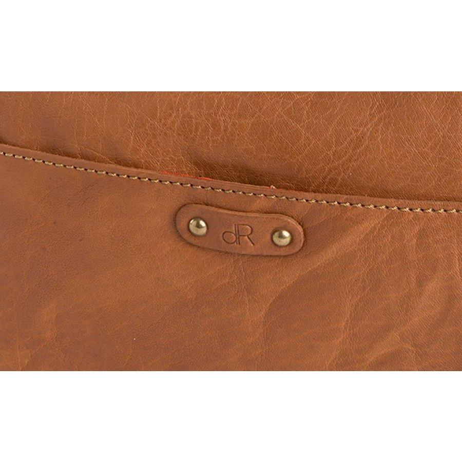 dR Amsterdam Leren dames schoudertasje en/of clutch Camel