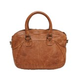 Wou Wou A4 Front Pocket Handbag Chestnut