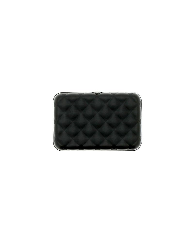 Ogon Designs Dames Creditcardhouder Quilted Button Black
