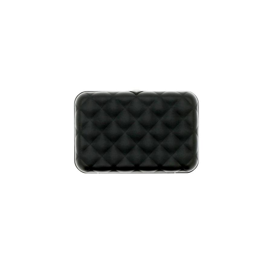 Ogon Dames Creditcardhouder Quilted Button Black