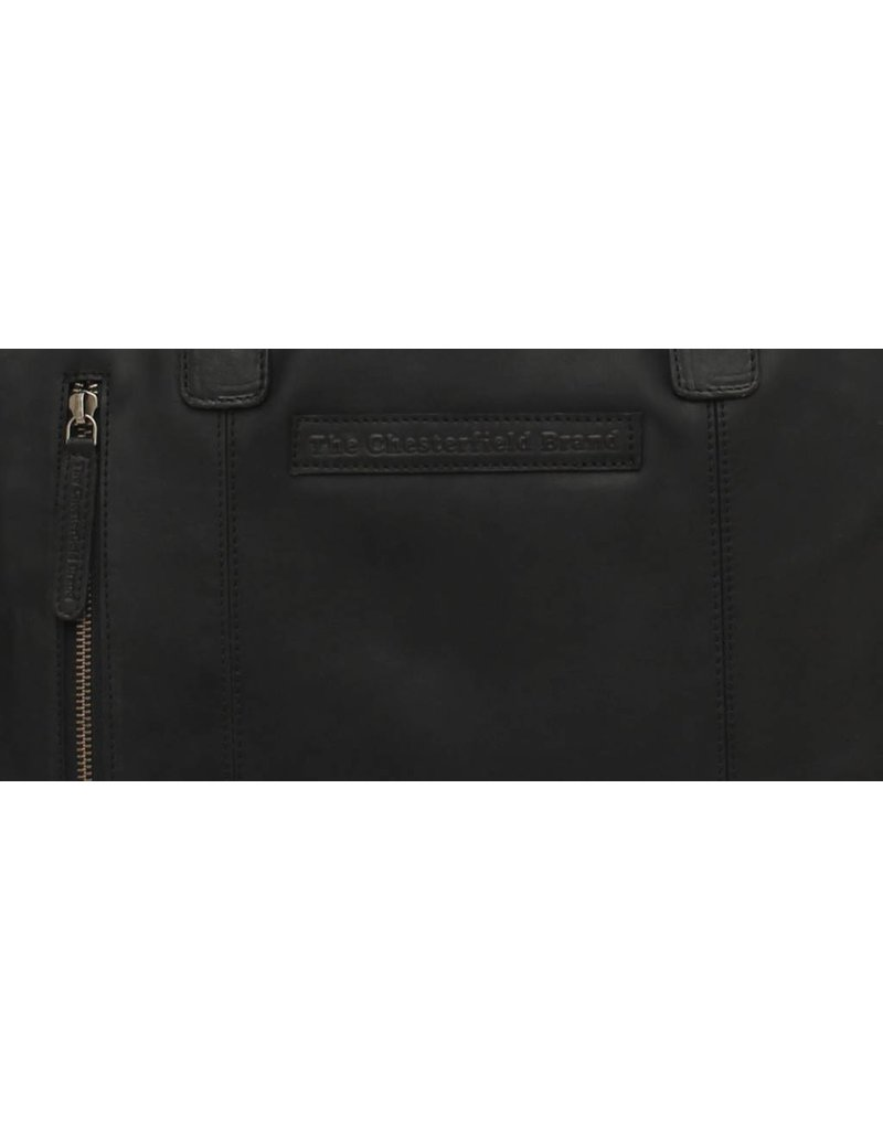 Chesterfield Leren Laptoptas Maria Wax Pull Up Black