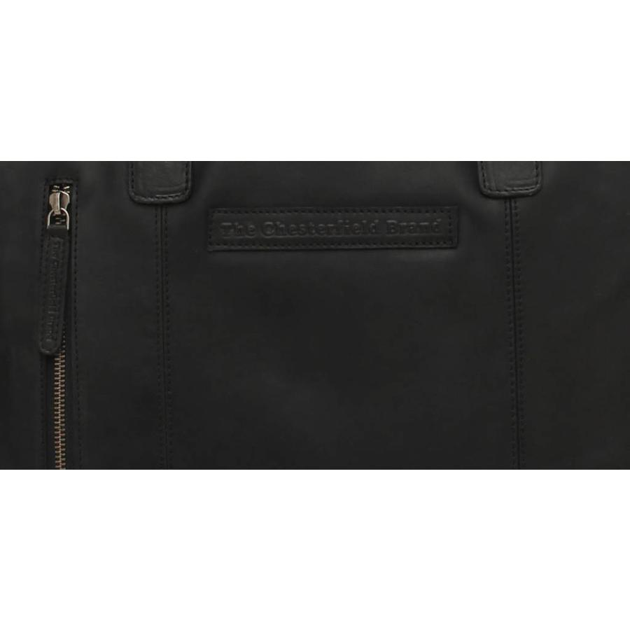 Chesterfield Leren Laptoptas Maria Wax Pull Up Black