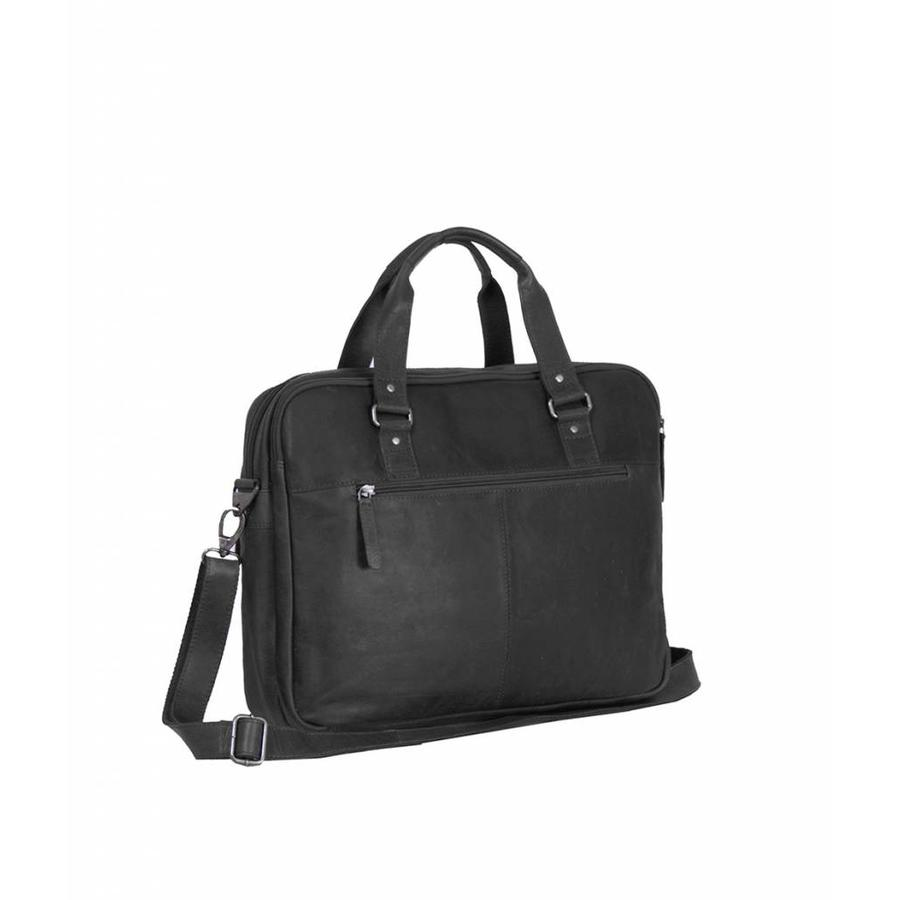 Chesterfield Leren Laptoptas 15 inch George Wax Pull Up Black
