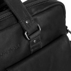 Chesterfield Leren Laptoptas Businessbag George Wax Pull Up Black