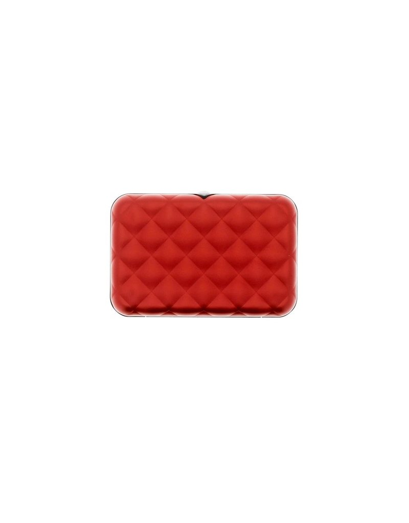 Ogon Designs Dames Creditcardhouder Quilted Button Red