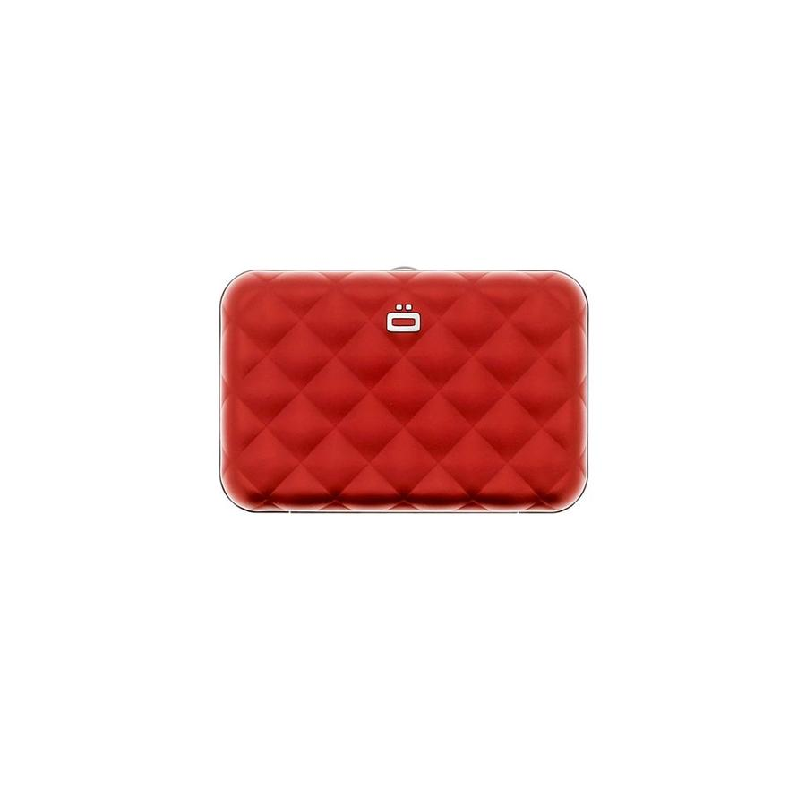 Ogon Dames Creditcardhouder Quilted Button Red