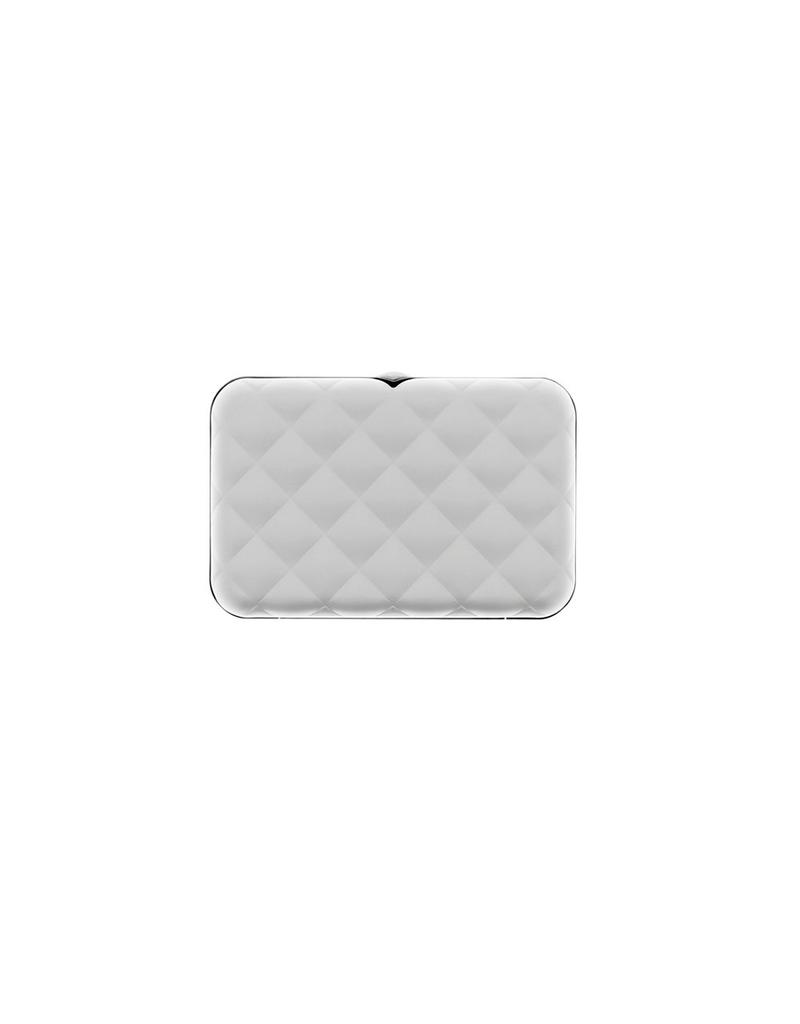 Ogon Designs Dames Creditcardhouder Quilted Button Silver