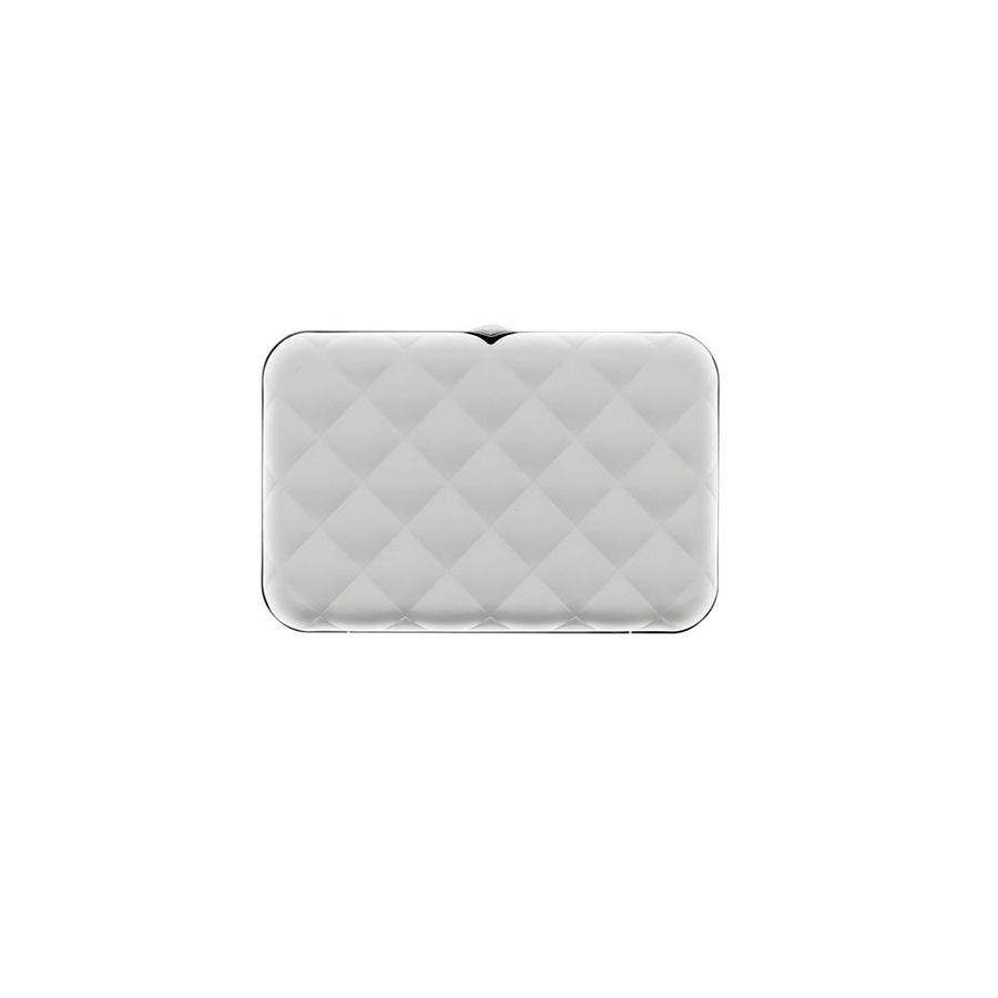Ogon Dames Creditcardhouder Quilted Button Silver