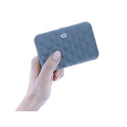 Ogon Dames Creditcardhouder Quilted Button Platinum