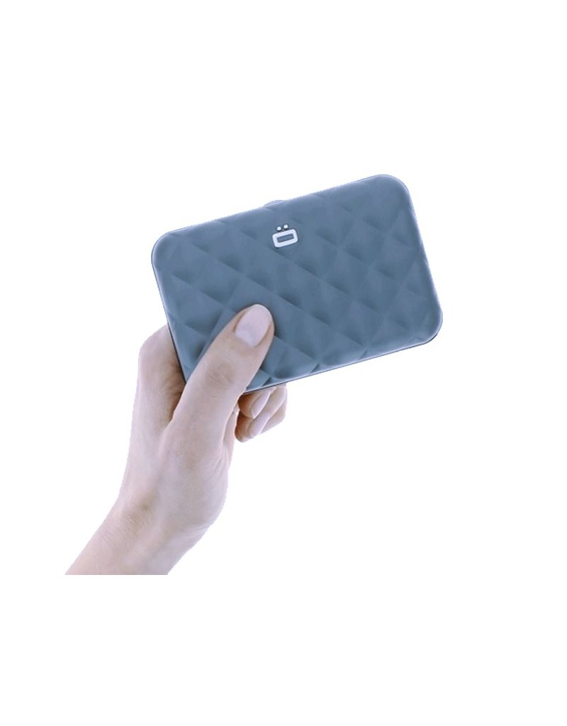 Ogon Designs Dames Creditcardhouder Quilted Button Platinum