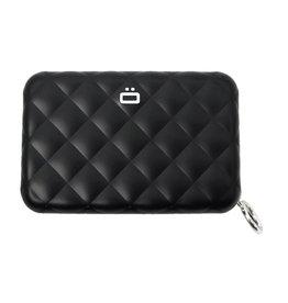 Ogon Designs Dames Creditcardhouder Quilted Zipper Black