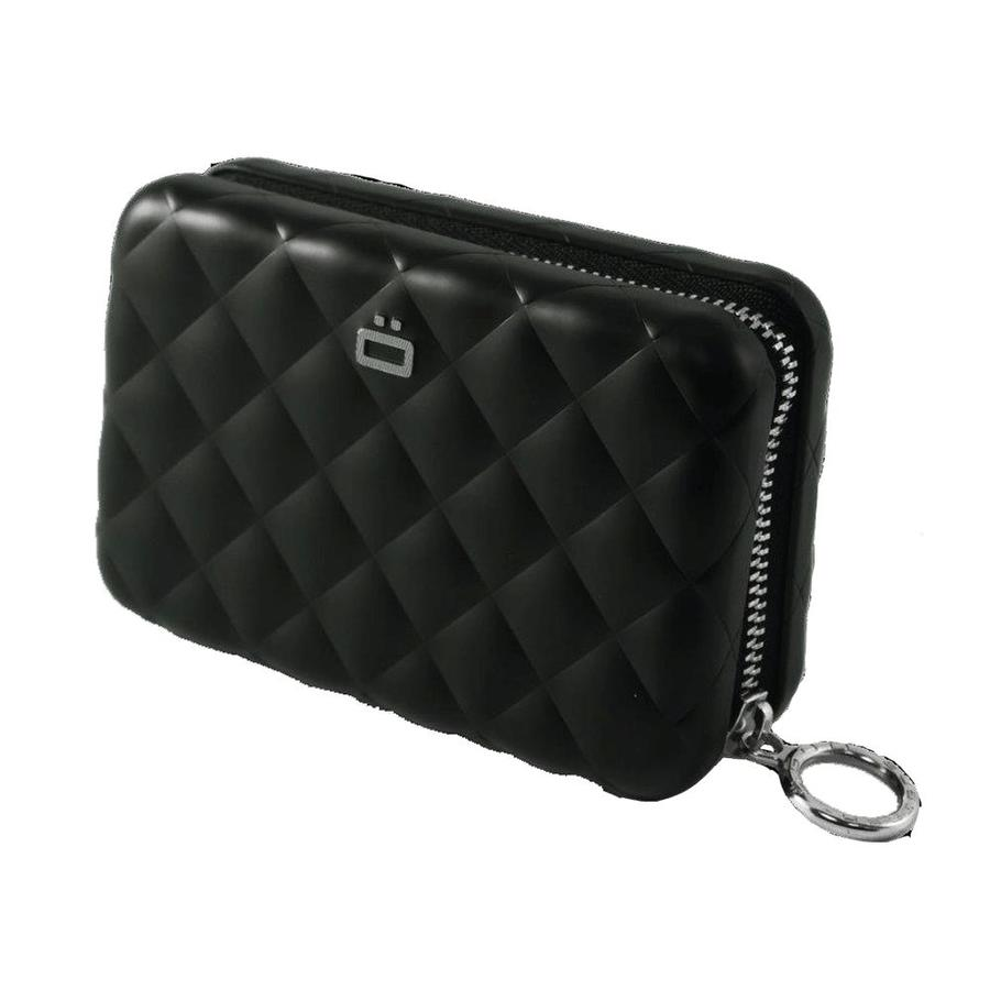 Ogon Dames Creditcardhouder Quilted Zipper Black