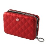 Ogon Designs Dames Creditcardhouder Quilted Zipper Red