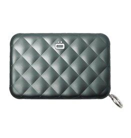 Ogon Designs Dames Creditcardhouder Quilted Zipper Platinum