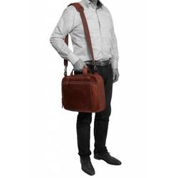 Chesterfield Leren Laptoptas Businessbag George Cognac