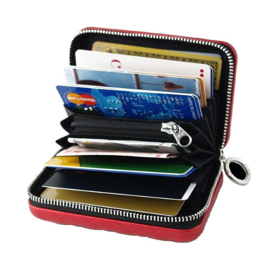 Ogon Dames Creditcardhouder Quilted Zipper Rose Gold